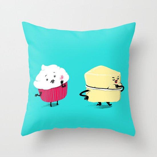 Red PERVERT Cupcake Throw Pillow