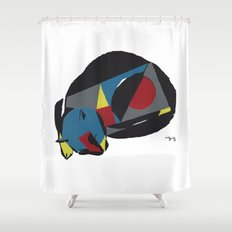 Abstract Sleeping Cat (s… Shower Curtain