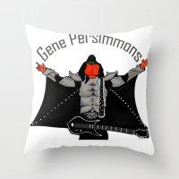 gene persimmons Throw Pillow