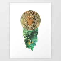 Honeycomb View Art Print