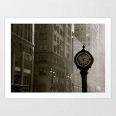 In Old New York. Art Print