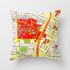 Map design of the University of southern California, LA Throw Pillow