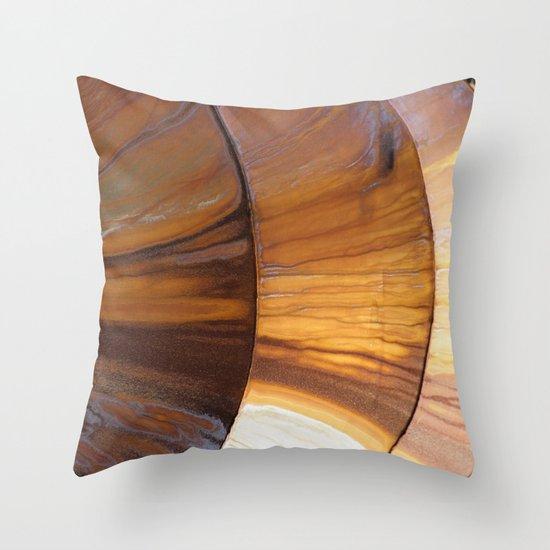 Golden Rust Throw Pillow