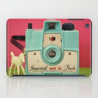 Imperial Horse (Blue Camera, Toy Horse) iPad Case