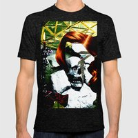 HER RUBY MY EMERALD Mens Fitted Tee Tri-Black SMALL