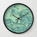 Ocean Breath Wall Clock