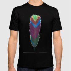 Feather #5 Mens Fitted Tee Black SMALL