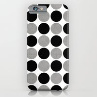 gray and black dots iPhone 6 Slim Case