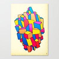 - summer Stadt - Canvas Print