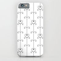 Black & White Hearts iPhone 6 Slim Case