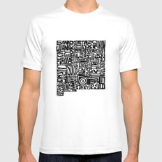 Typographic New Mexico SMALL Mens Fitted Tee White