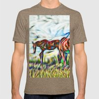 Abstract Horses In Paddo… Mens Fitted Tee Tri-Coffee SMALL