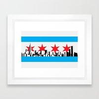 New Chicago Flag Framed Art Print