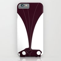 iPhone & iPod Case featuring Silhouette Racers - Talbot Lago Teardrop Coupe by Salmanorguk