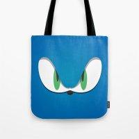 Blue Face Tote Bag