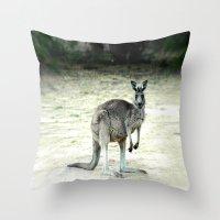 Big Grey Throw Pillow