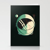 Death Of An Astronaut Stationery Cards