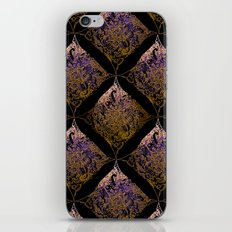 Detailed diamond, bordeaux glow iPhone & iPod Skin