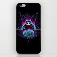 iPhone & iPod Skin featuring Possessed Panda by pigboom el crapo