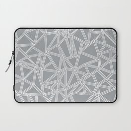 Laptop Sleeve - Shattered Ab Grey and White  - Project M