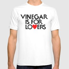 Vinegar is for Lovers Mens Fitted Tee SMALL White