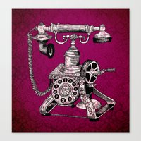 Phone it in.. Canvas Print