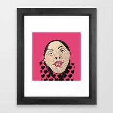 CRAZY GIRL Framed Art Print