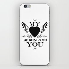 My Heart Belongs To You iPhone & iPod Skin