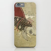 iPhone & iPod Case featuring koi Shark Fin 03 by vin zzep