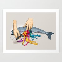 Artificial Colors Art Print