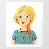 Fishtail Art Print