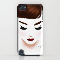 iPod Touch Cases featuring audrey by Kathryn M.