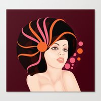 Snail Lady Canvas Print