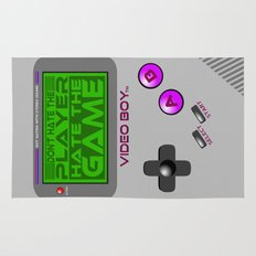 Don't Hate The Player, Hate The Game!  |  Video Game Rug