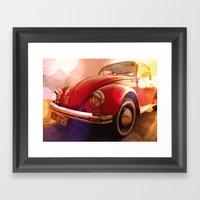 Red Ruby Framed Art Print