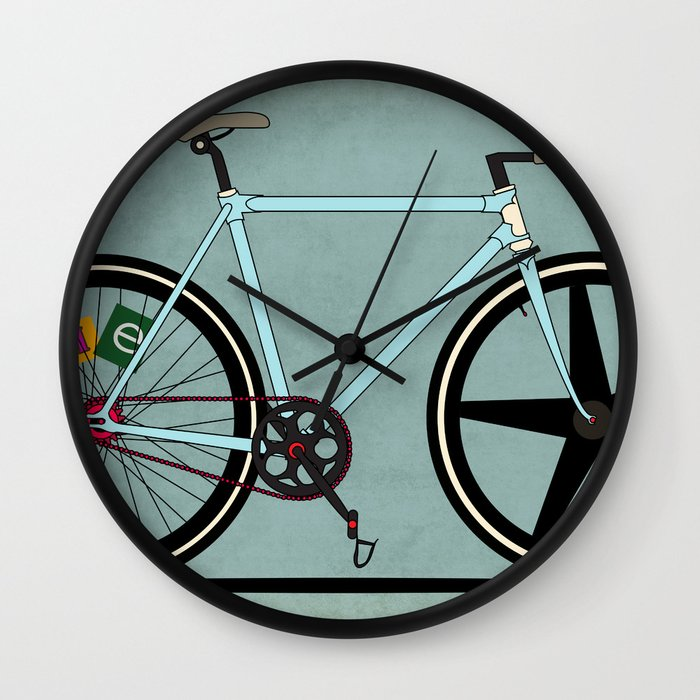 Bike Design Wall Clock : Fixie bike wall clock by wyatt design society