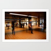 New York Train Station Art Print