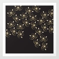 Dark Blossoms Art Print