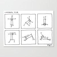 Longhorn Yoga Canvas Print