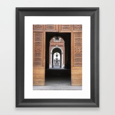 Europe through my mom's eyes Framed Art Print