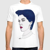 Girl With Blue Hair Mens Fitted Tee White SMALL