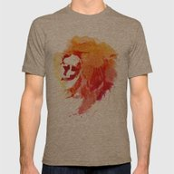 Angry Lion Mens Fitted Tee Tri-Coffee SMALL