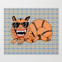 Kickflip Cat Canvas Print