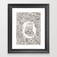 Froggle, Doggle And Pogg… Framed Art Print
