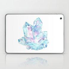 Pink Blue Crystal Cluster Laptop & iPad Skin