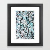 FOILED {BLUE} Framed Art Print
