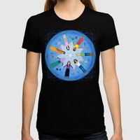 Plea for Peace Womens Fitted Tee Black SMALL