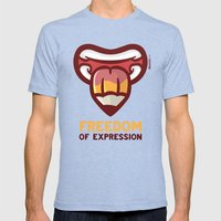 Freedom Mens Fitted Tee Tri-Blue SMALL