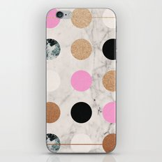 Rose Gold Dots iPhone & iPod Skin