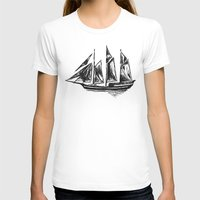 ship T-shirts featuring Ship by LeahOwen